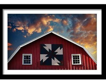 Bold Barns and Brilliant Skies Collection, Quilted II Fine Art Full Color Photographic Print