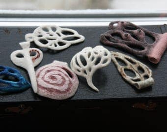 Felted pendants