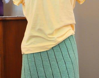 Weightless Handmade Crochet Lace Summer Skirt