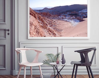 Valle de la luna Print // Incredible Landscape //  photography print // travel photography  // beautiful landscape //
