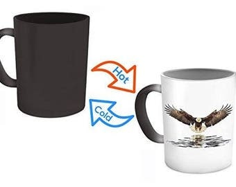 Eagles Mug, Eagle Flying Mug,eagles coffee mug, Color Changing Mug, Heat Changing Coffee Mug, american eagle mug, Eagle Gifts,