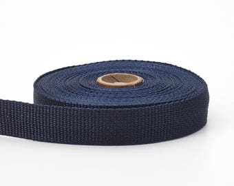"Polypropylene webbing, 2"" Wide, 10 yds, Navy"