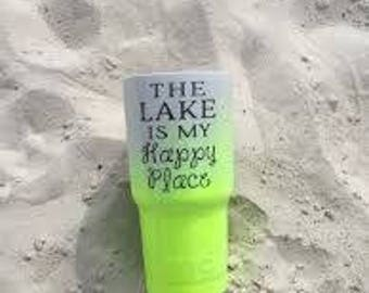 "Yeti ""The Lake Is My Happy Place"" Decal"