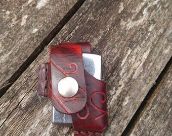 Belt pouch for zippo or star style lighter