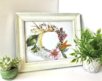 Cotton Floral Laurel