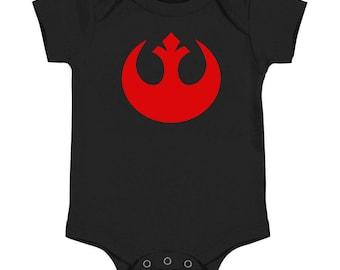 Star Wars Rebel Alliance Classic Logo Baby Onesie