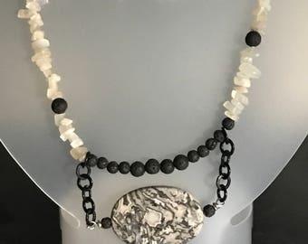Black beauty-handmade gemstone necklace