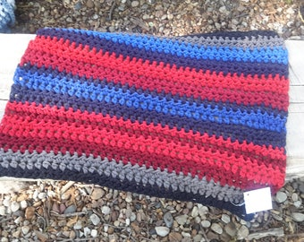 Crochet cotton rag rug