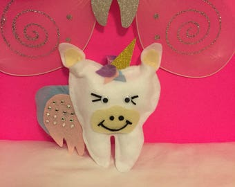 Unicorn toothfairy pillow