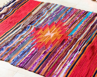 Handmade Rug made out of Recycled Clothing