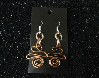Earrings  anodized aluminum