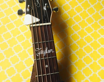 Personalized Guitar Decal