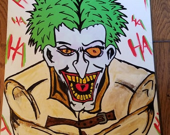 Custom Joker Gotham City style painting Batman