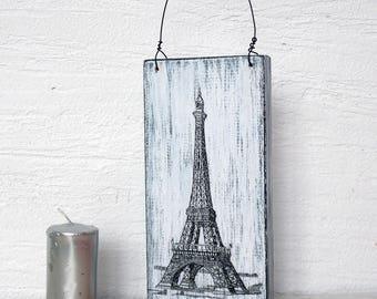 Eiffel Tower decor, Paris decor rustic, Wall Decor Plaque Eiffel Tower, sign Eiffel Tower