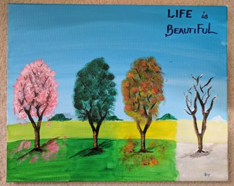 Life & Seasons - Beautiful Artwork - Acrylic Painting