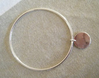 Silver ring bracelet and round Medal
