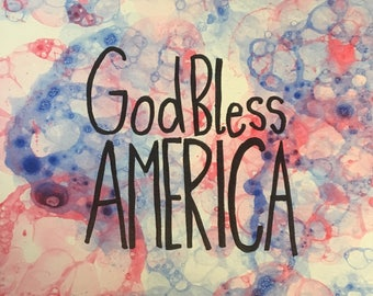 God Bless America Bubble Art