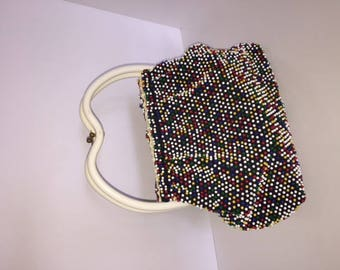 Vintage 60's Reversible Plastic Purse