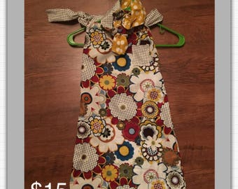 Custom Sack Dress and Headband