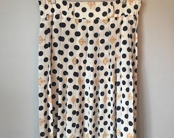 Vintage Women's Polka Dot Anchor 80s 90s Skirt