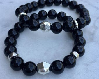 fashionable semi precious stone bracelets for Men