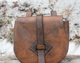 Birka Style Large Viking Leather Pouch