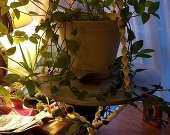 Macrame Plant Hanger with Shelf