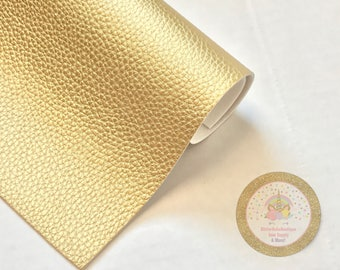 Gold Textured Faux Leather Sheet/DIY Bow/Fabric Sheet/Hair bows