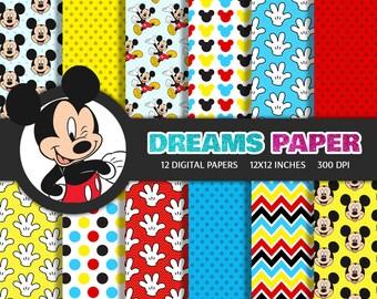 Mickey - Digital Paper
