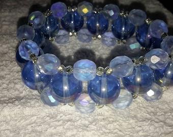 Be dazzling Blue stretch bracelet