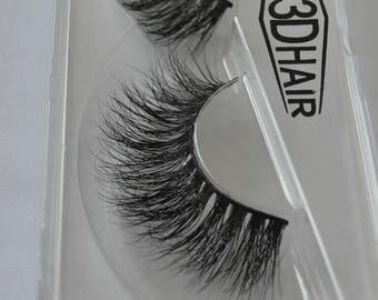 100% Real Siberian Mink Strip False Eyelashes 3D Mink Lashes Miami Lashes Makeup