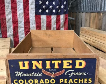 United Wooden Fruit Crate