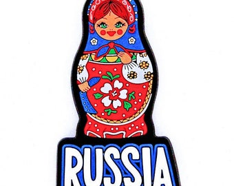 Souvenir.3D.A magnet on the refrigerator. Russian nesting doll.Eraser.