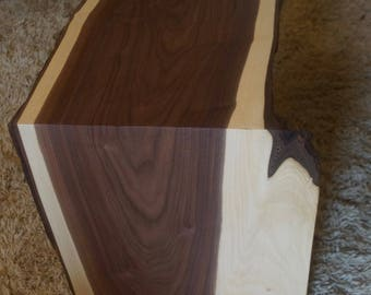 Black Walnut Waterfall End Table