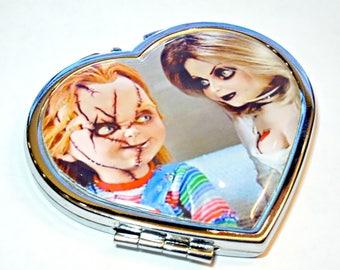 Chucky and Tiffany compact mirror
