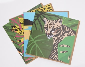 Big Cat greeting card set