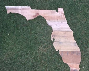 Reclaimed Wood Florida State Signs