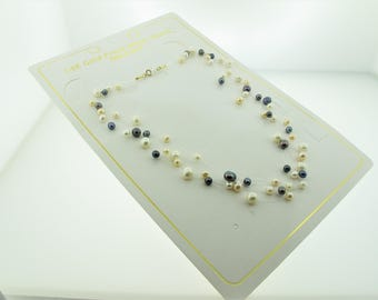 14K Yellow Gold Clasp Multi Strand Fresh Water Pearls Necklace