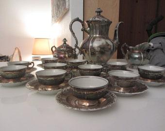 Servizio da tè Bavaria vintage anni '50