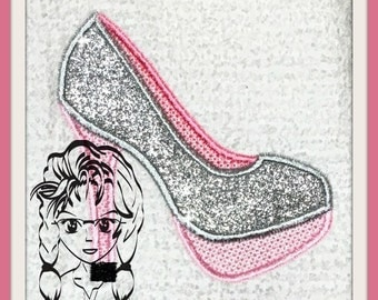 Shoes High Heels Applique - Perfect for a little Diva dress up ~ Downloadable DiGiTaL Machine Embroidery Design by Carrie