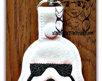 SW SToRMY TRooP - Key FOB Key Ring Snap Tab ~ In The Hoop ~ Downloadable DiGiTaL Machine Embroidery Design by Carrie