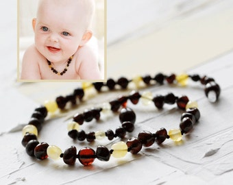 Baby boy amber necklace | Necklaces for boys | Boy teething necklace | Baltic amber teething necklace | amber jewelry | newborn baby gift
