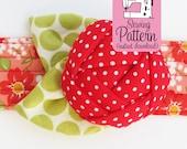 Rose Pincushion Cuff PDF Sewing Pattern | Sew a wearable wrist bracelet flower pin cushion.