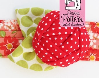 Rose Pincushion Cuff PDF Sewing Pattern | Sew a wearable wrist bracelet flower pin cushion.