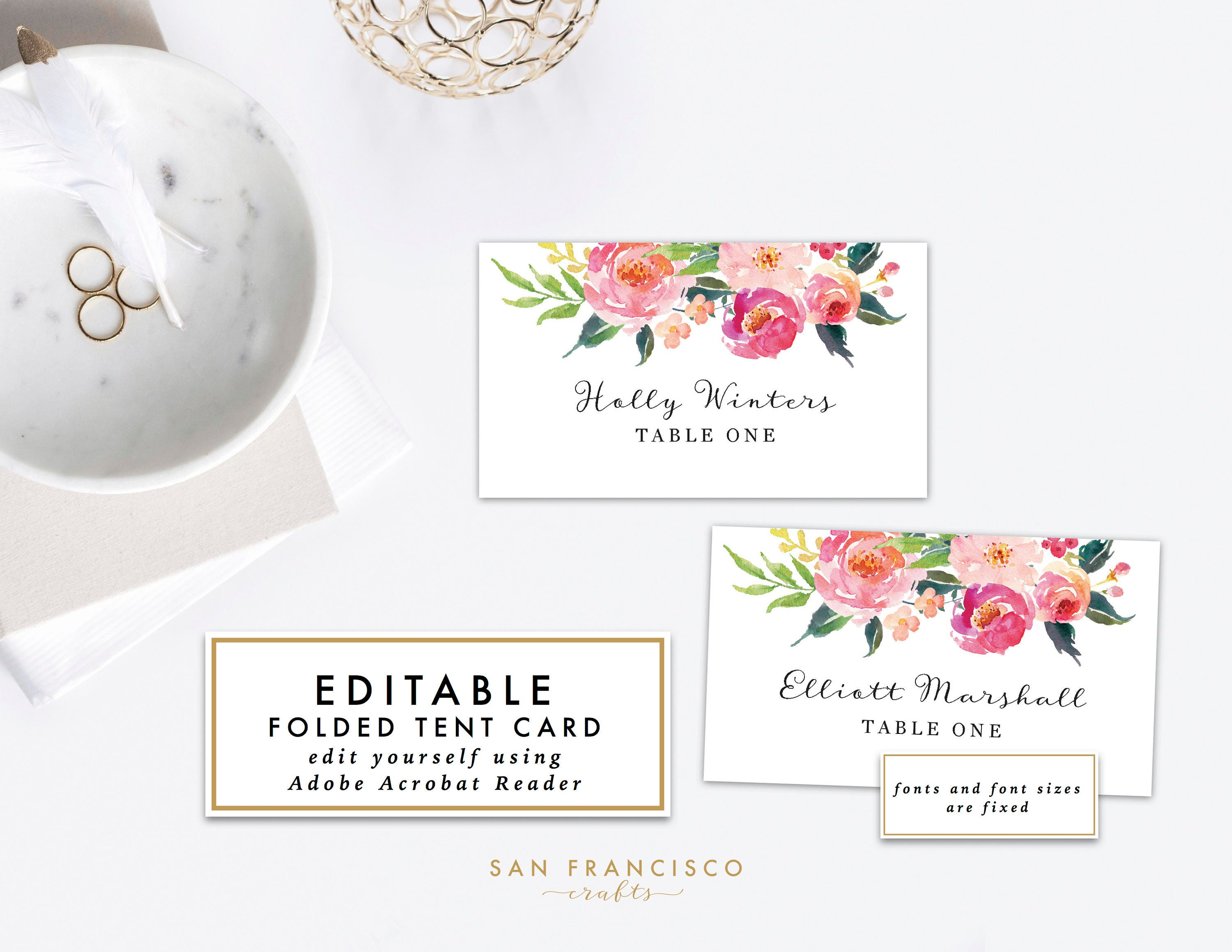 place card template printable name cards or food tent card escort