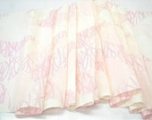 Vintage silk kimono bolt - pink and white lining or juban fabric