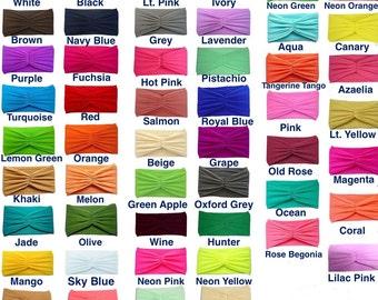ADULT Nylon Headbands / Teen Nylon Headbands / 50 Solid Colors To Choose / Hair Accessories / Adult Turban / Headwrap / Hairband