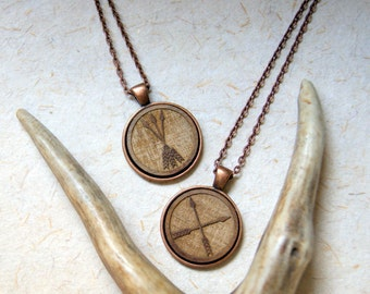 Wood Arrow Necklace - Wooden Arrow Necklace - FREE GIFT WRAP
