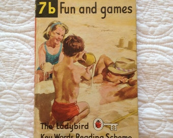 Ladybird Books Fun and Games 7b 1960's Children's Reading Book Illustrations by J. H. Wingfield Published in England