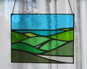 I Can See The See! Beautiful Ocean Seaside Stained Glass - pewtermoonsilver